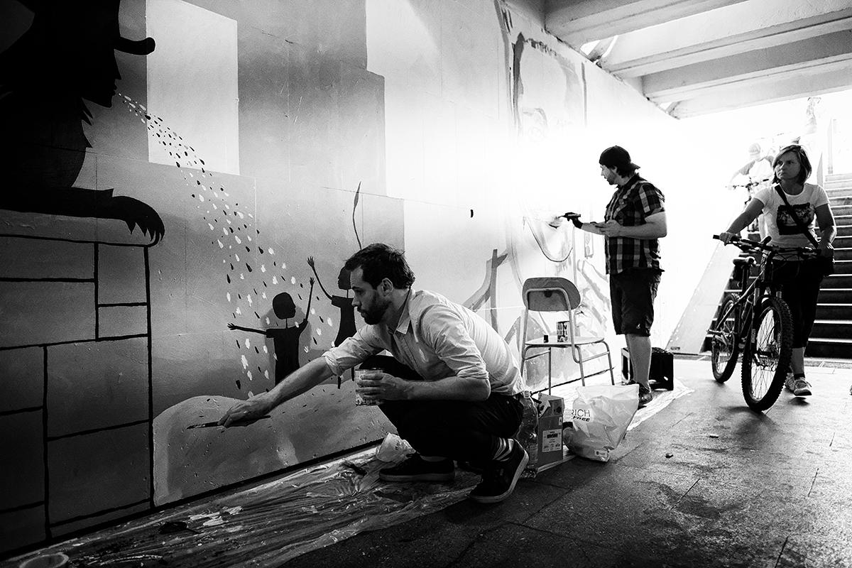 Seriš, malovanie podchodu
